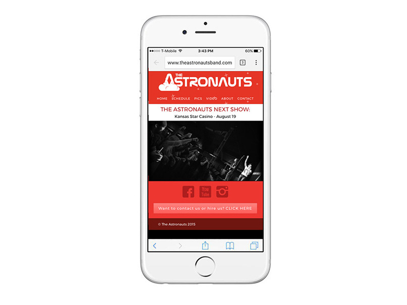 The Astronauts Landing Page - Mobile