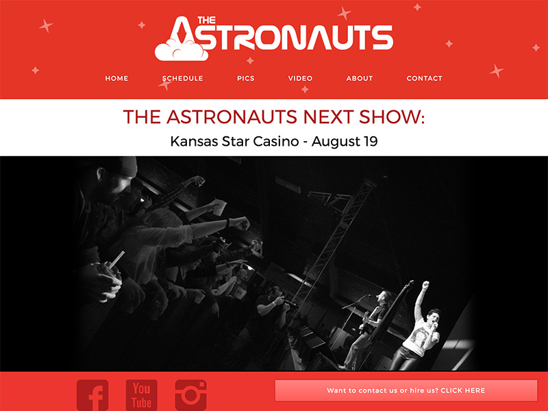 The Astronauts Landing Page